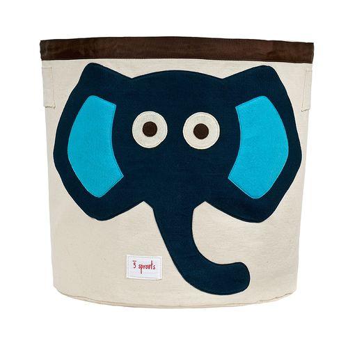 Cesto_Organizador_Redondo_Elefante_Azul