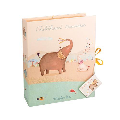 Caixa-os-primeiros-tesouros-do-bebe-Les-Papoum-Elefante-1