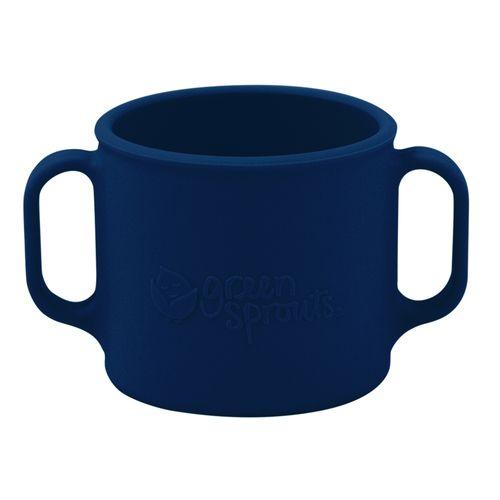 Cup-de-treinamento-Green-Sprouts-em-Silicone-Azul-marinho