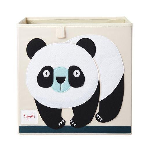 Cesto-Organizador-3-Sprouts-Quadrado-Panda