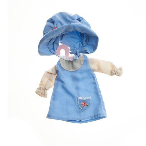 Roupa-de-Boneca-Metoo-Camponesa-Retro-Vestido-Azul-Manga-Longa
